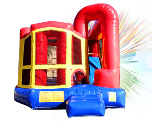 4 in 1 inflatable waterslide combo