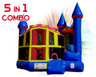 5 in 1 combo inflatable slide