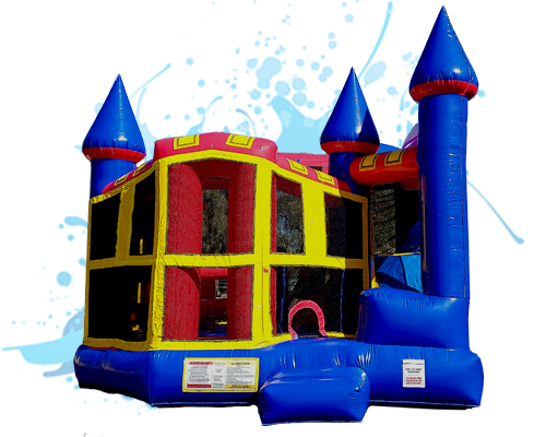 5 in 1 inflatable waterslide combo
