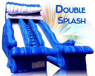 Double Splash inflatable slide