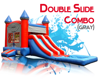 Double Slide waterslide combo in gray