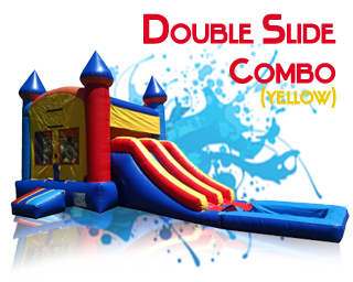 Double Slide waterslide combo in yellow