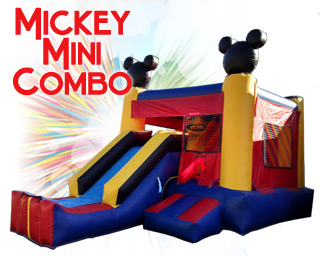 inflatable mickey mini slide combo