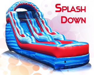 Splash Down inflatable slide