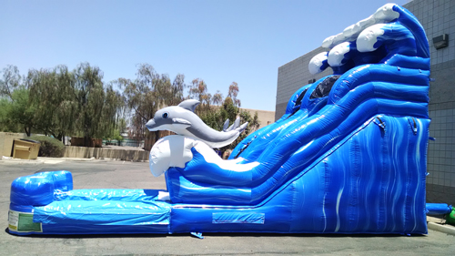 dolphin slide inflatable waterslide