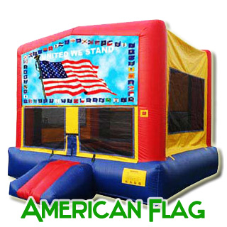 American Flag Patriotic Bounce House