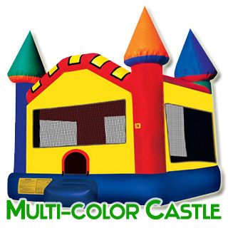 Multi-Color Bouncy Castle