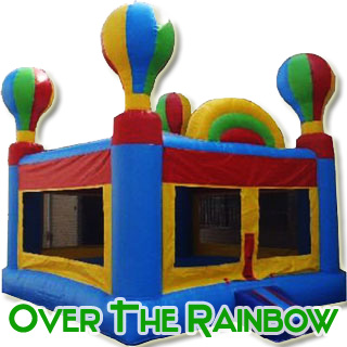 Over The Rainbox Balloon Bounce House