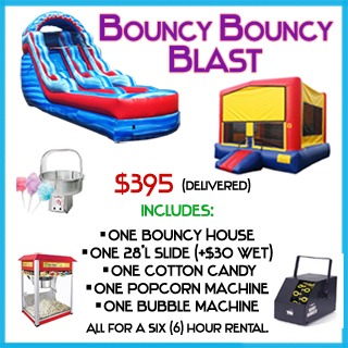Bouncy Blast Bounce House Package